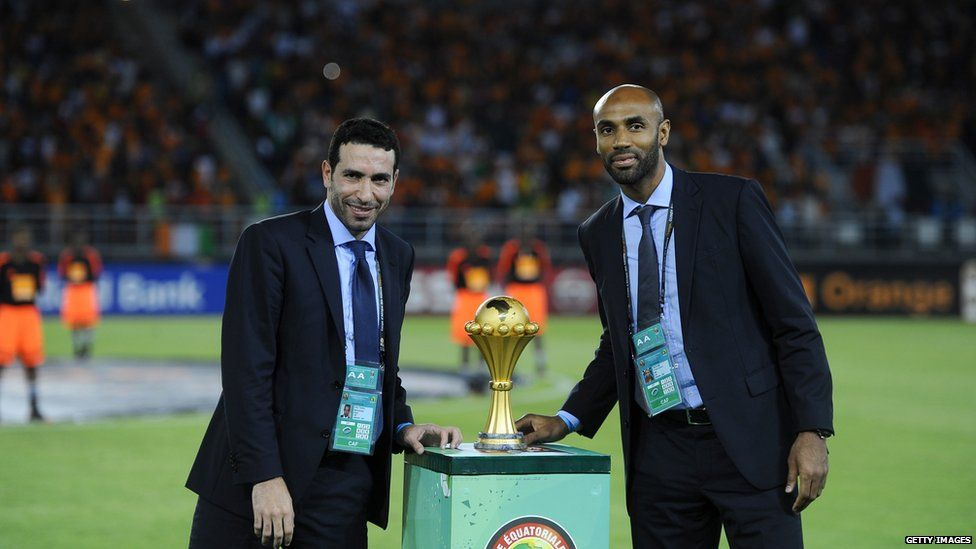 Egyptian midfielder Mohamed Aboutrika and Frederic Kanoute