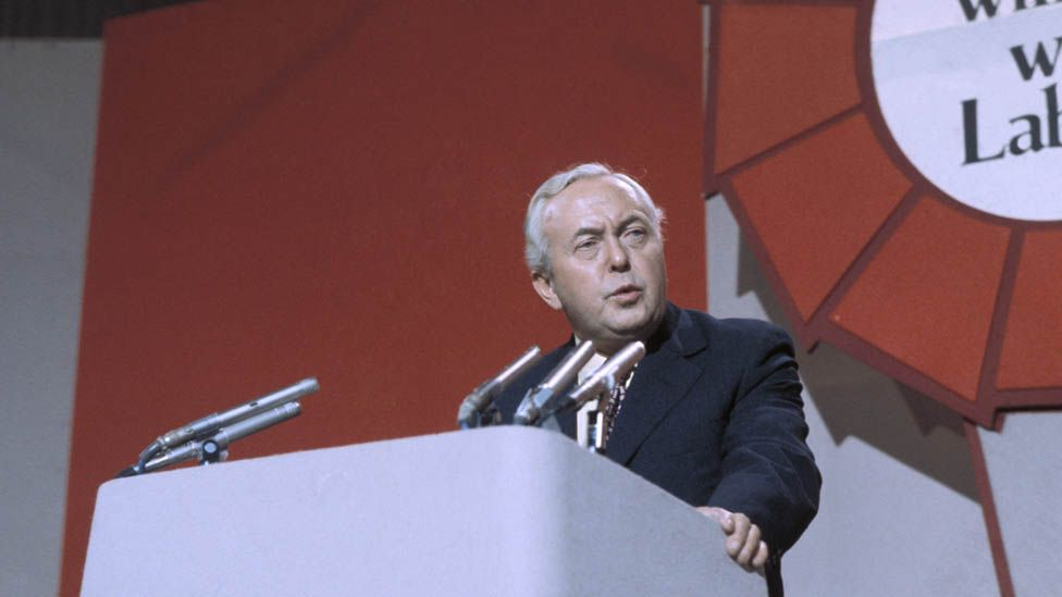 Harold Wilson at Labour party conference
