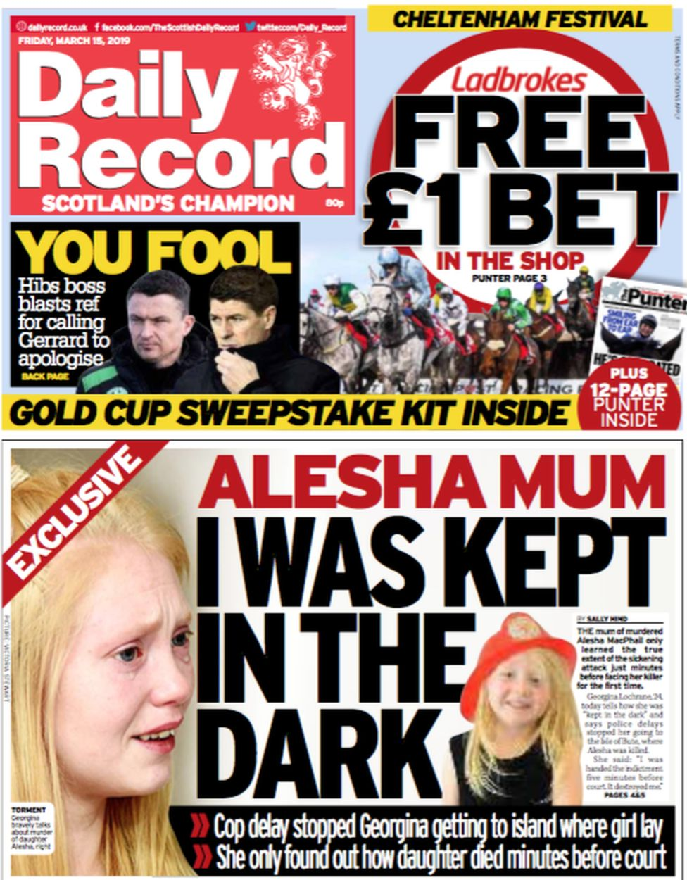 Record front page