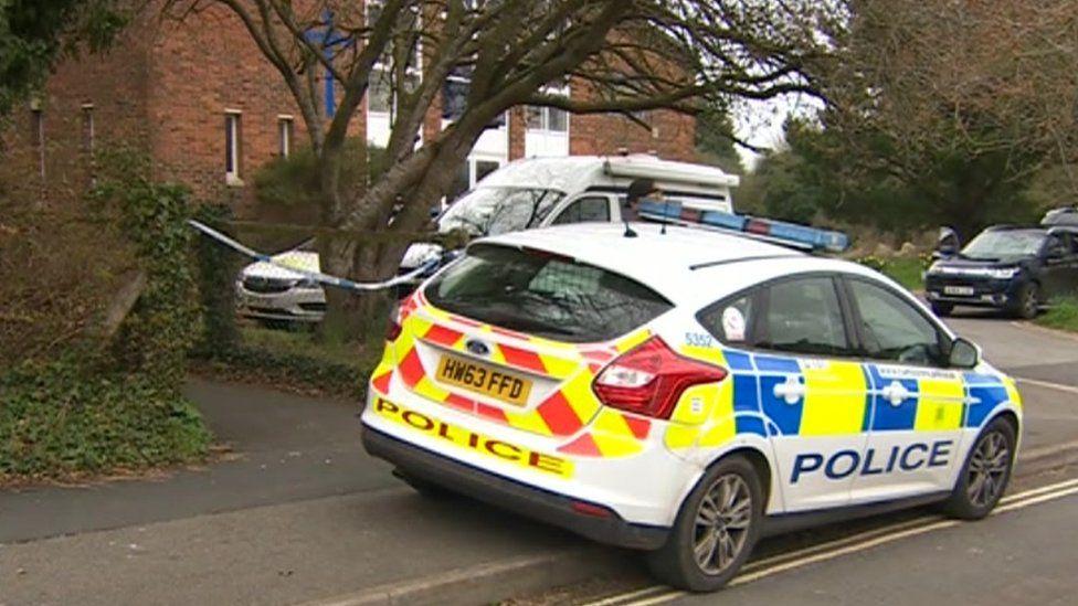 police car on scene