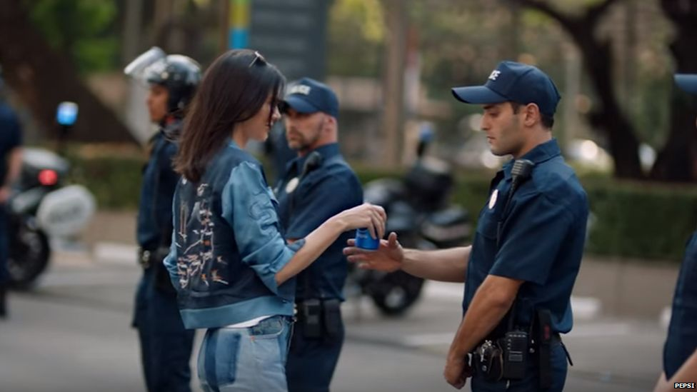 Kendall's pepsi advert