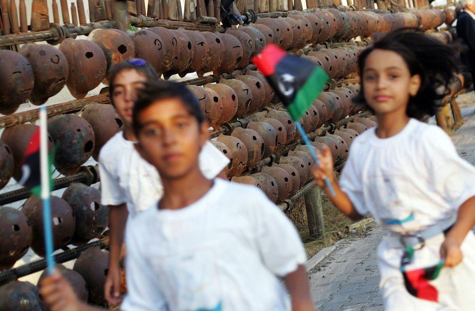 Children play in Misrata