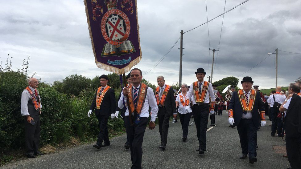 Thousands of Orangemen from the Republic and Northern Ireland are taking part in the day's events