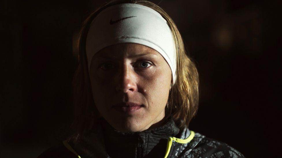 Yuliya Stepanova training at night