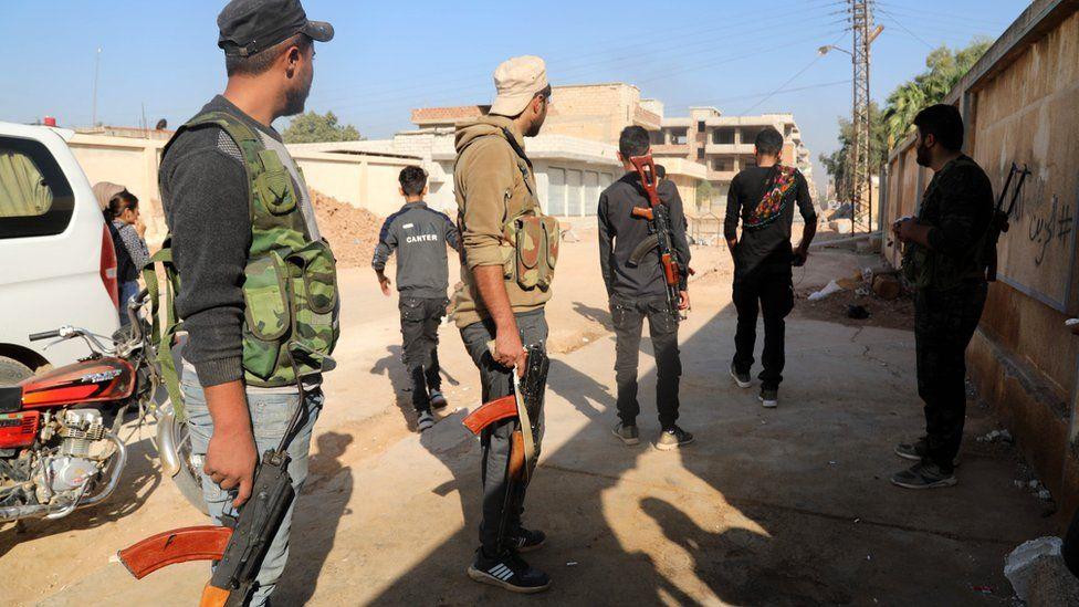 SDF forces prepare to counter Turkey Ras al-Ain 10 Oct