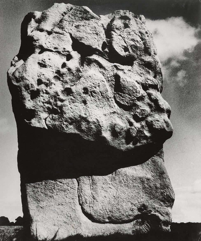 A photograph of a rock at Avebury