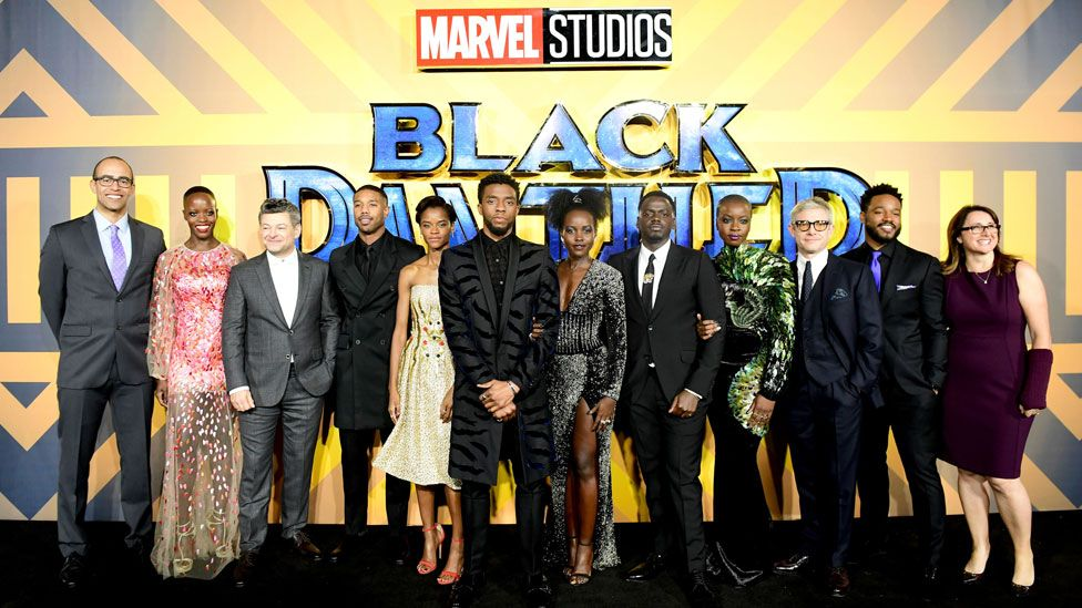 The cast and crew of Black Panther