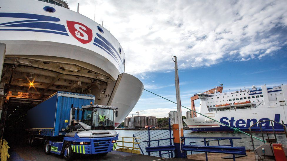 Stena ferries in dock