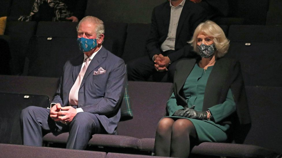 The Prince of Wales and Duchess of Cornwall at the Soho Theatre