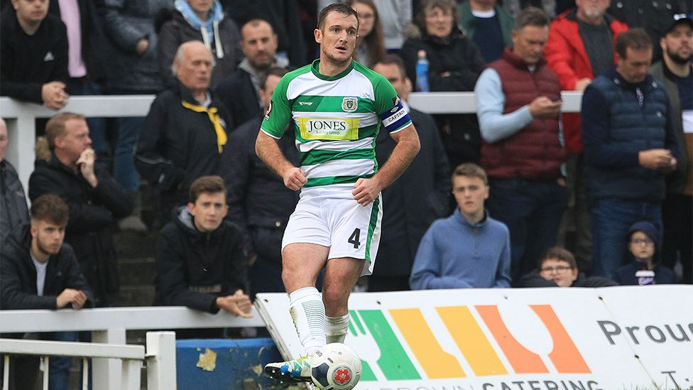 Lee Collins playing for Yeovil Town