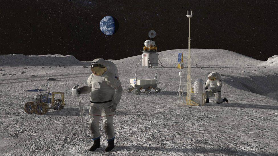 Humans on Moon