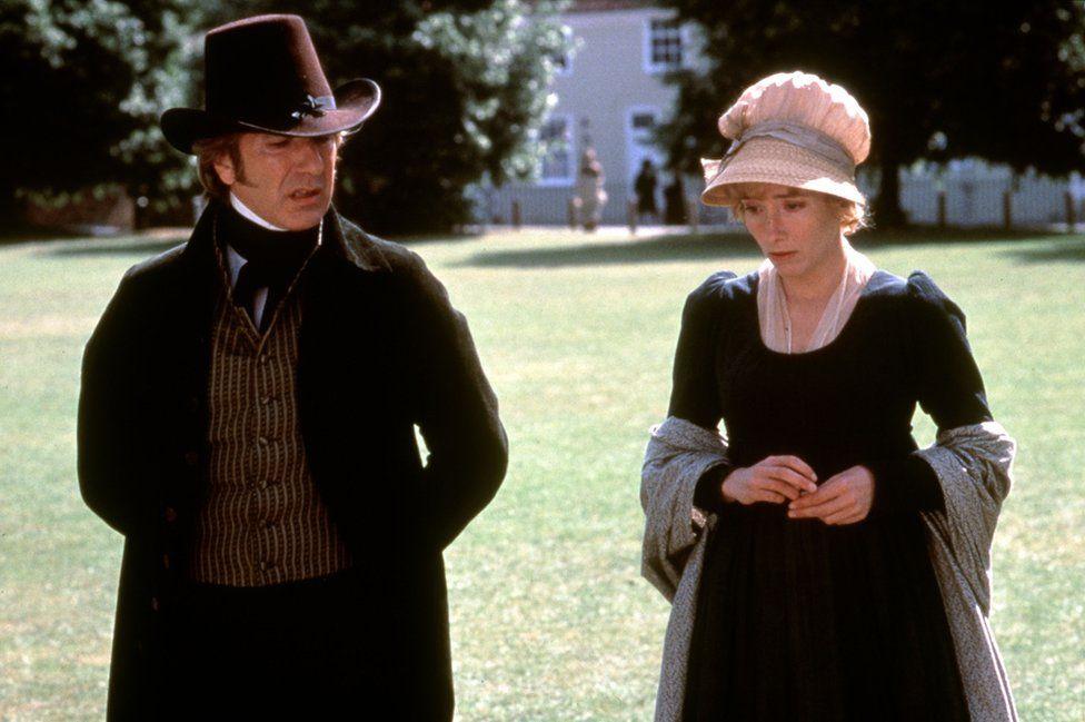 Emma Thompson and Alan Rickman in Sense and Sensibility, 1995