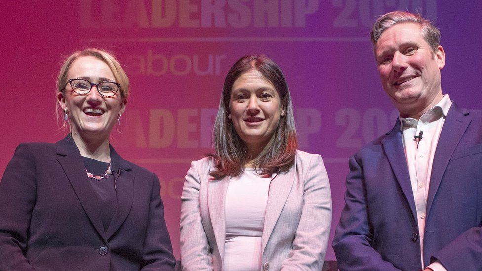(From left to right) Rebecca-Long Bailey, Lisa Nandy and Sir Keir Starmer all want to be the next Labour leader