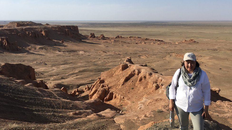 Bolorsetseg on an elevation of the Flaming Cliffs