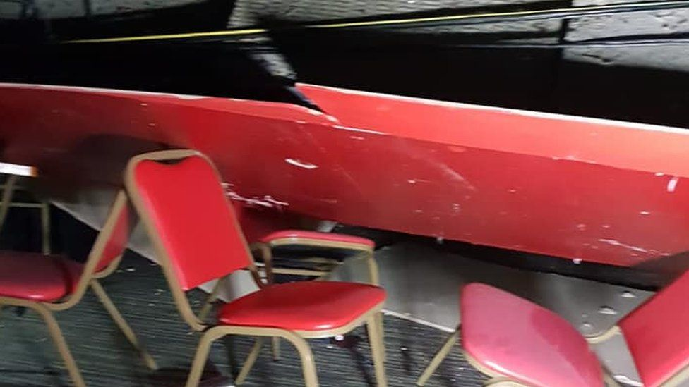 Pontins roof collapse