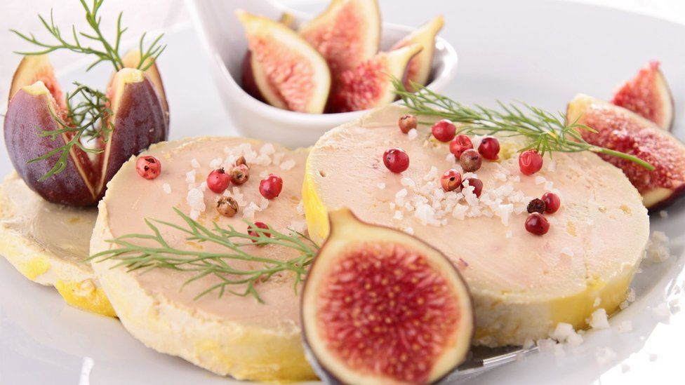Foie gras picture with figs