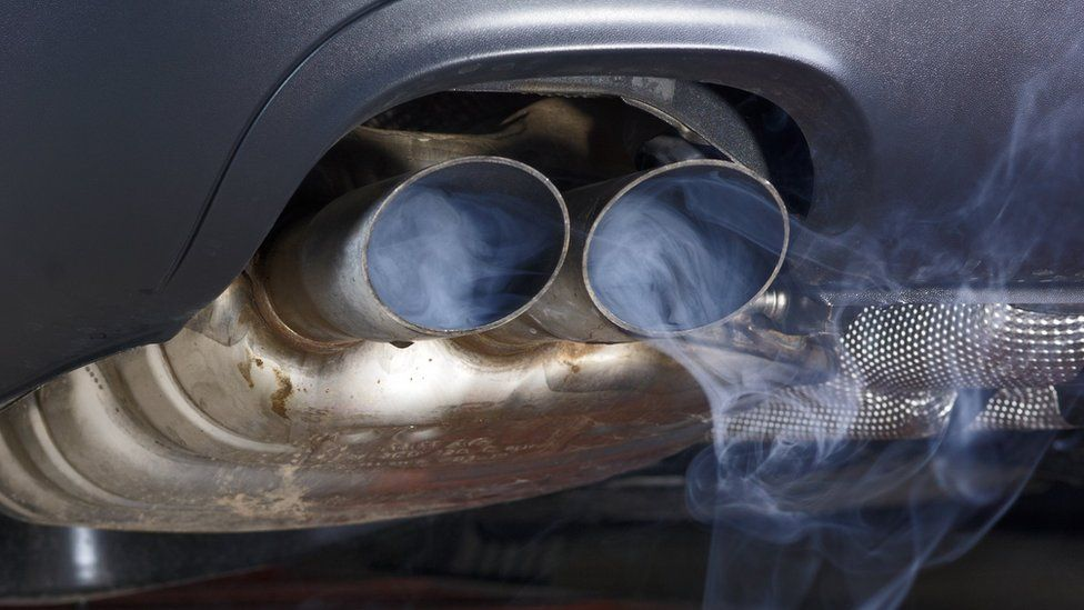 Fumes coming from an exhaust pipe