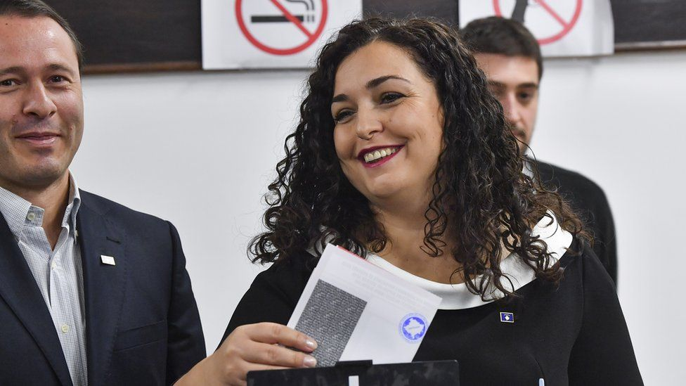 Vjosa Osmani votes