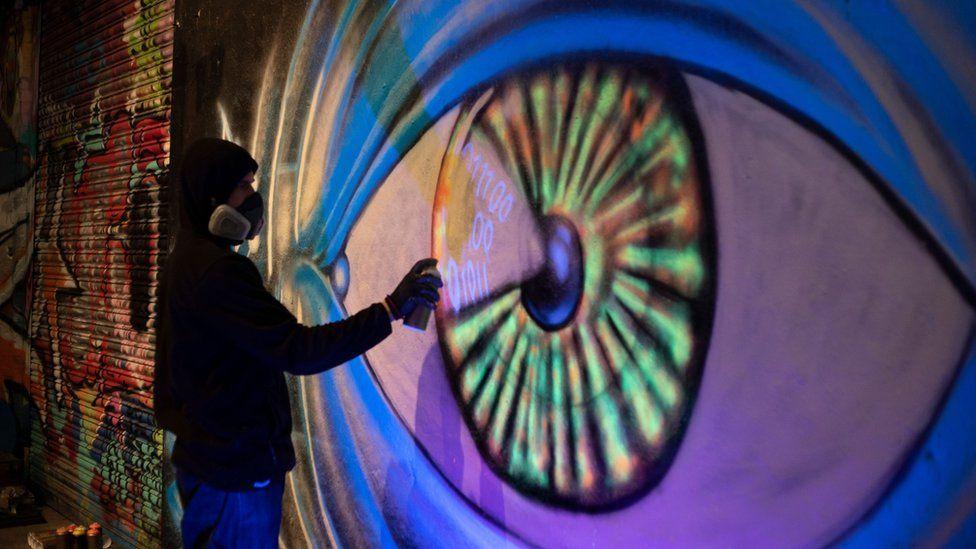 Grafitti of an eye