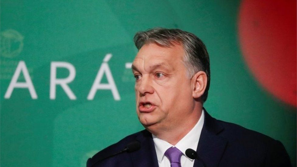 Hungarian Prime Minister Viktor Orban speaks during a business conference in Budapest, Hungary, March 10, 2020