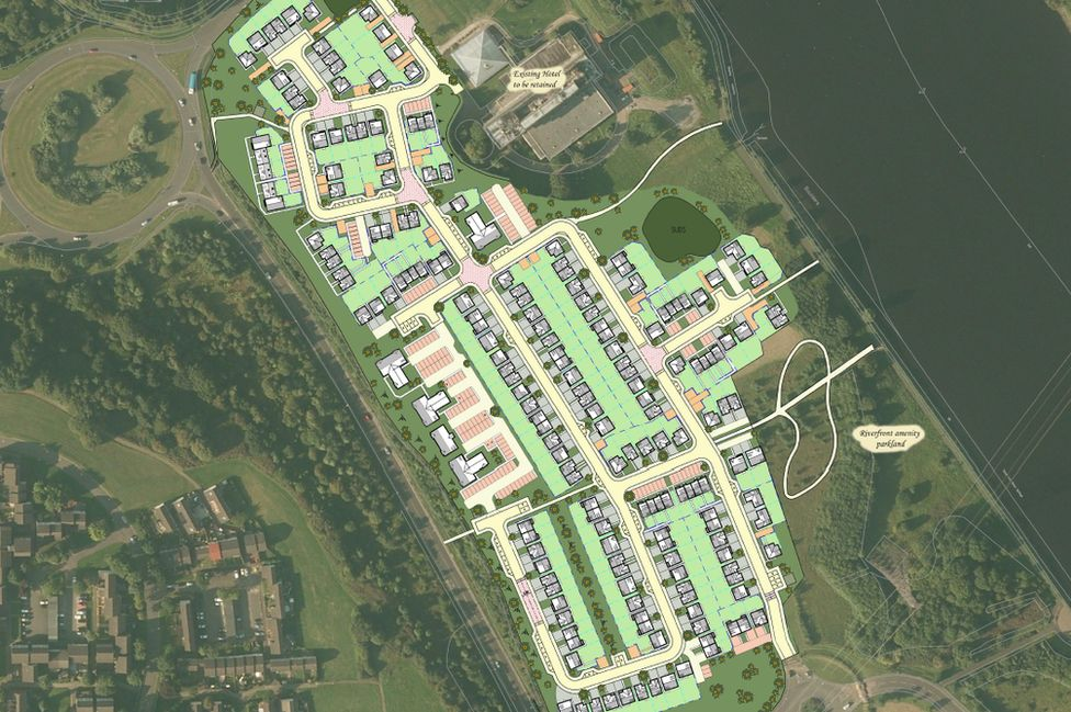 CGI of Riverbank development plan