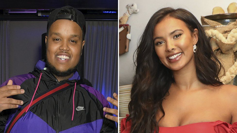 Chunkz and Maya Jama