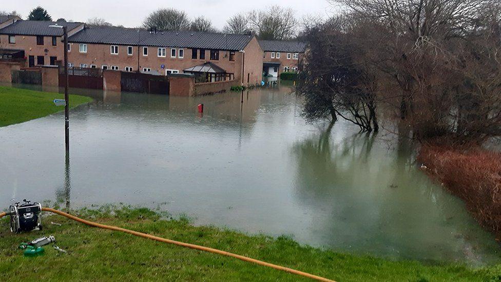 Flooding in Milton Keynes.