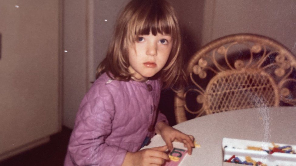 Victoria Derbyshire as a young girl
