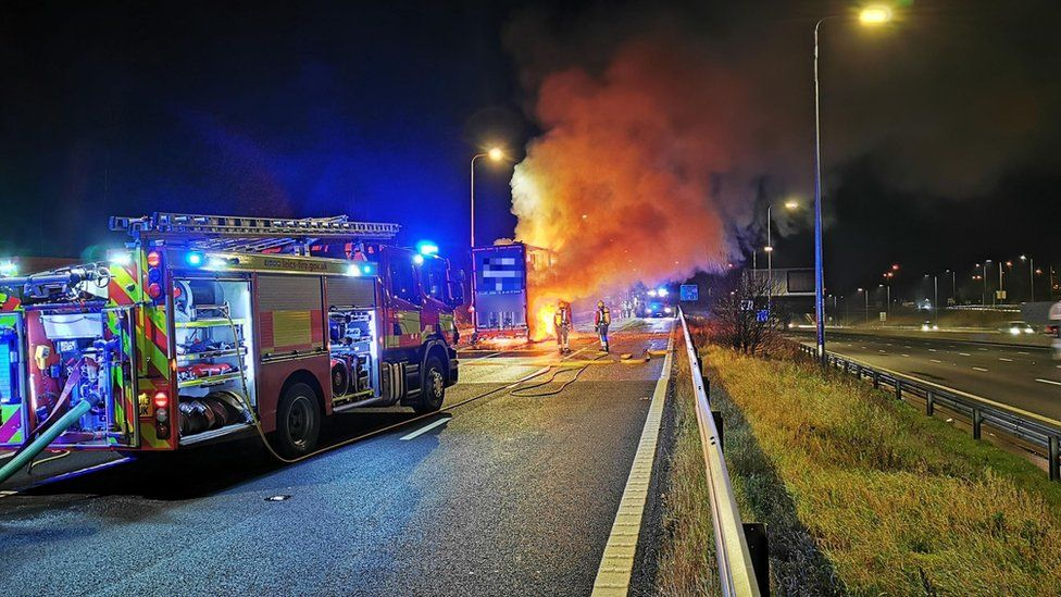 Fire in the lorry