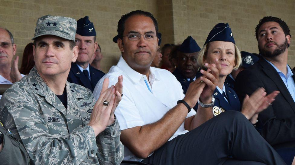 Will Hurd at an army base