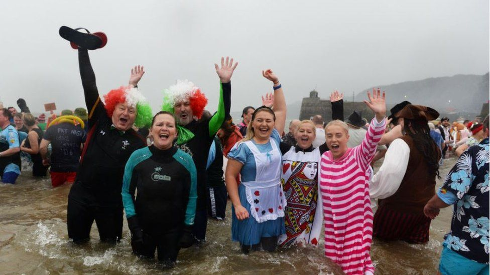 Saundersfoot New Year's swim