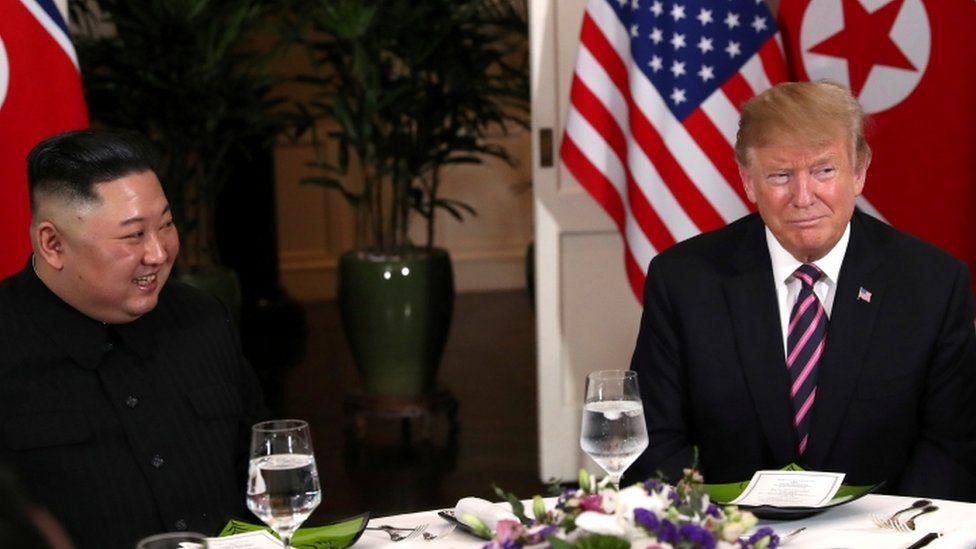 Kim Jong-un and Donald Trump in Vietnam - February 2019