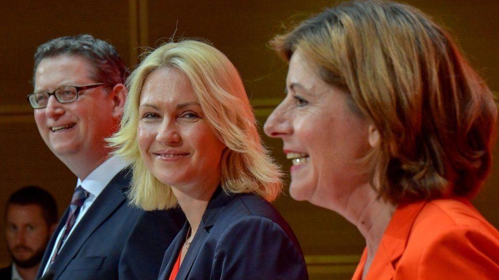 Manuela Schwesig, Malu Dreyer and Thorsten Schäfer-Gümbel