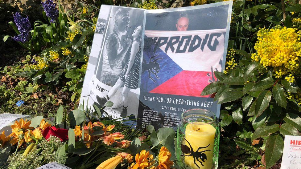 Keith Flint floral tributes