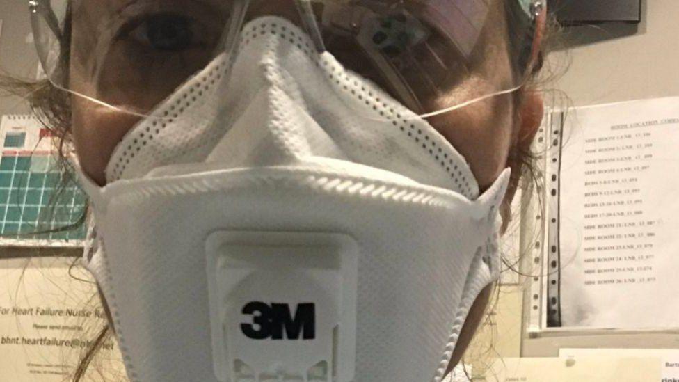 NHS worker Jessie Gaddie requested scrubs using Frontline.Live.