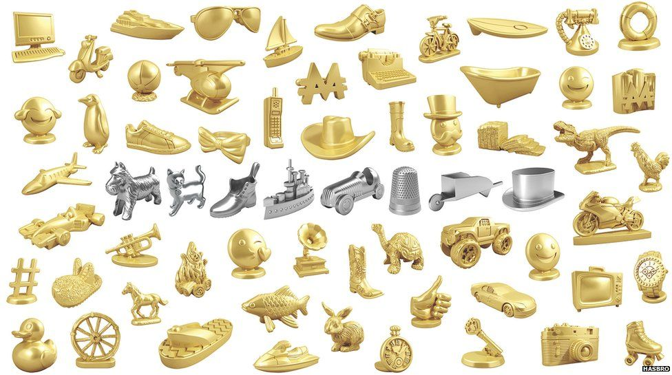 Range of Monopoly playing pieces