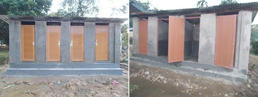 New toilet and shower blocks