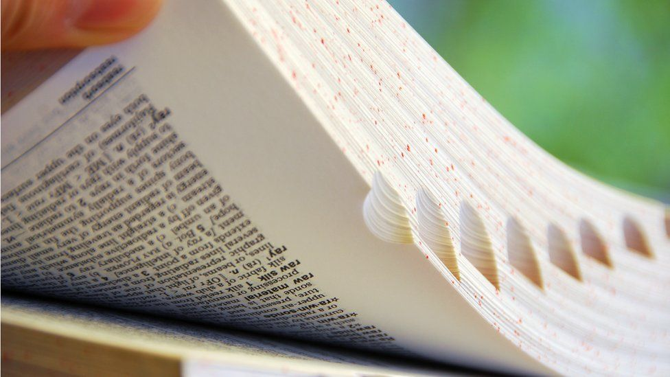 Stock image of dictionary