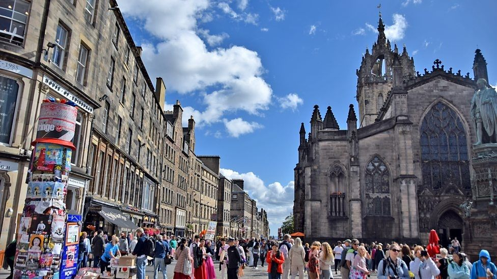 Edinburgh gets crowded when the festivals are on