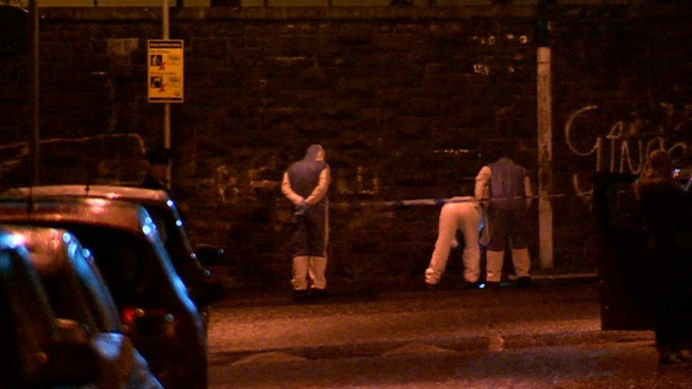 Scene of shooting at Forest Street in west Belfast