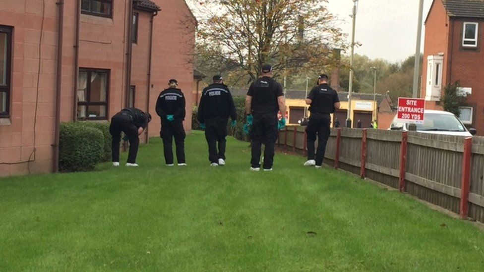Police in the Ross Walk area of Leicester