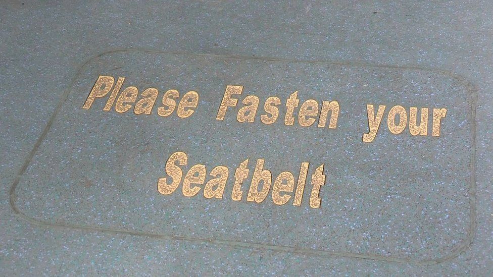 Fasten your seatbelt sign