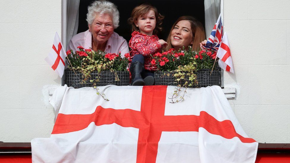 Emsworth residents watching the St George's Day parade