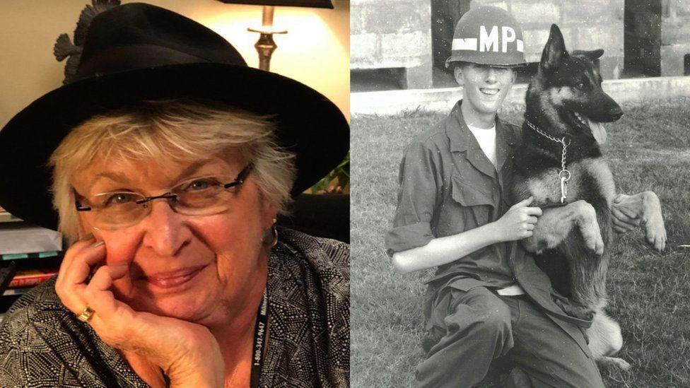 Marsha Four hari ini dan Tom Hall sebagai tentara muda di Vietnam