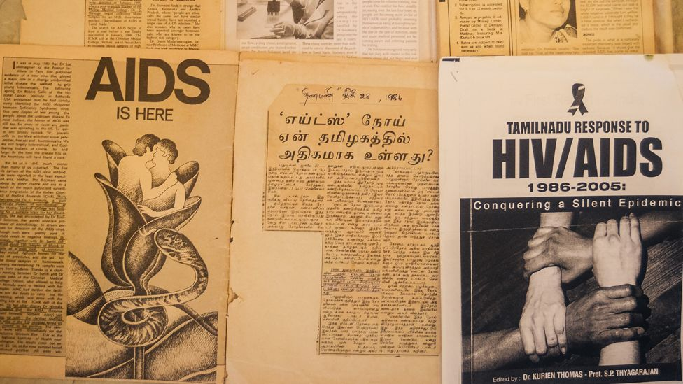 Cuttings showing HIV/Aids awareness literature