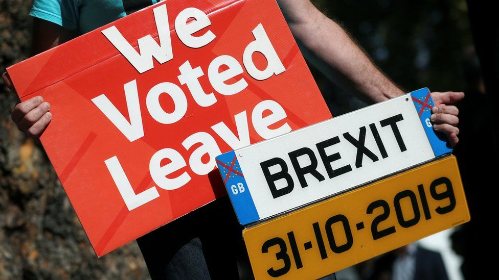 Pro-Brexit demonstrators protest outside the Supreme Court in London,