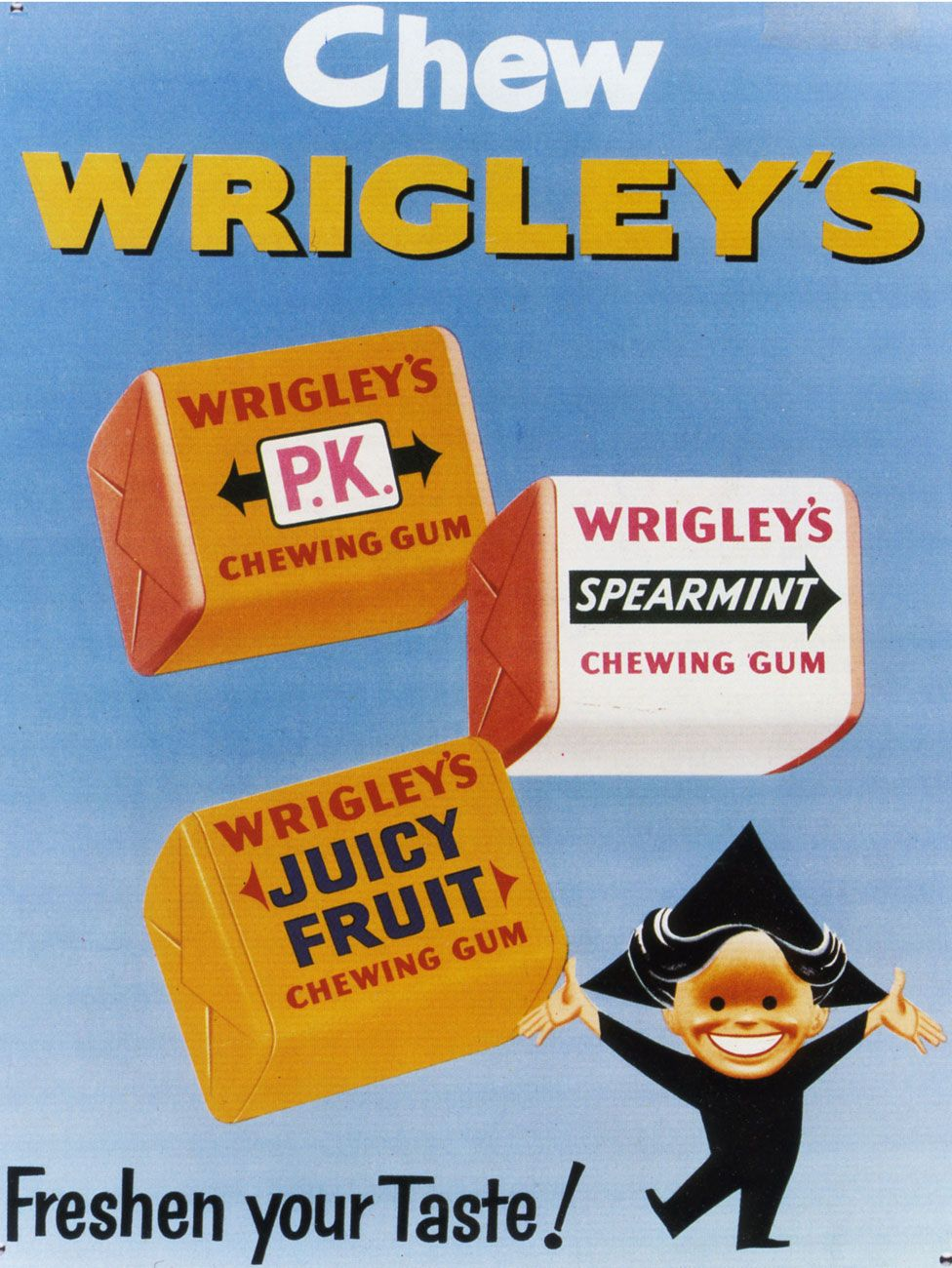 A 1950s advert for Wrigley's chewing gum