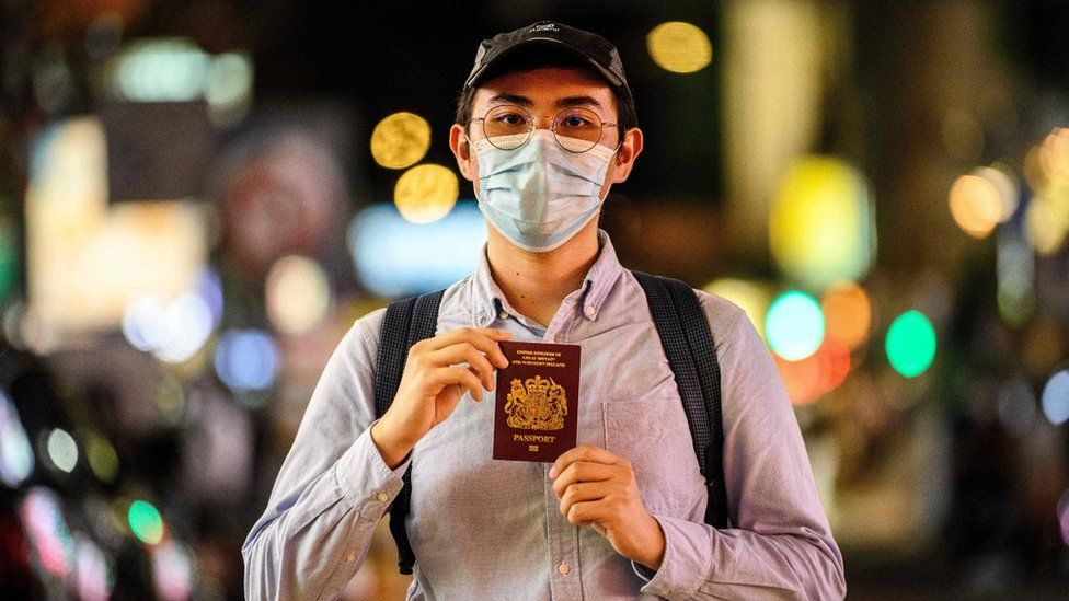 A Hong Kong residents with their BNO passport