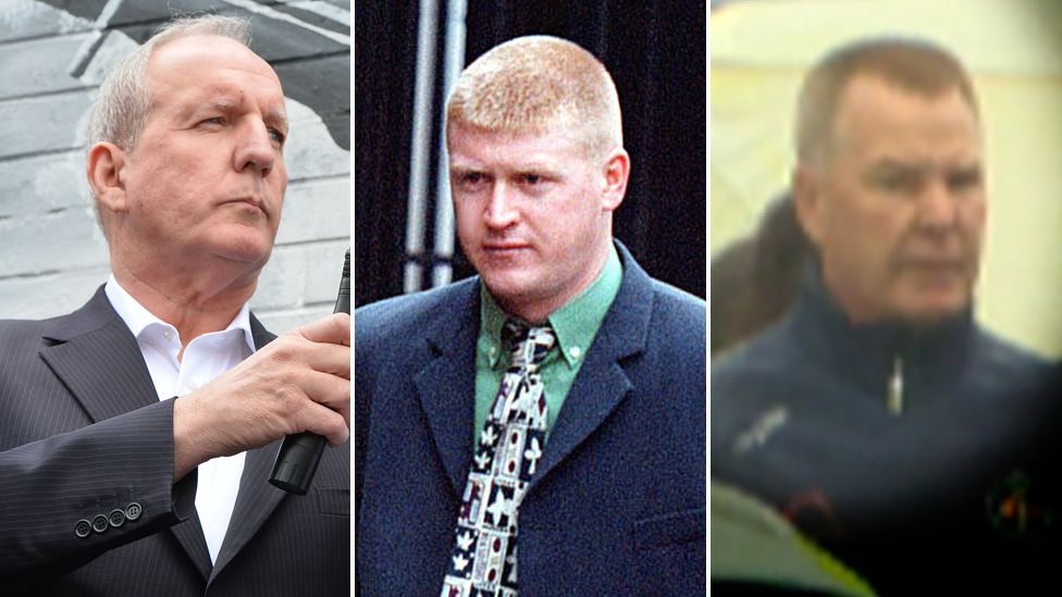 Senior republicans Bobby Storey, Eddie Copeland and Brian Gillen