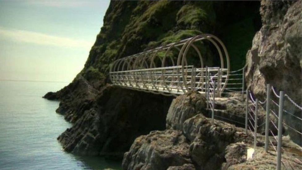 The Gobbins Cliff Path in Islandmagee